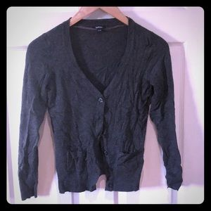 Charcoal Grey Button up cardigan with pockets